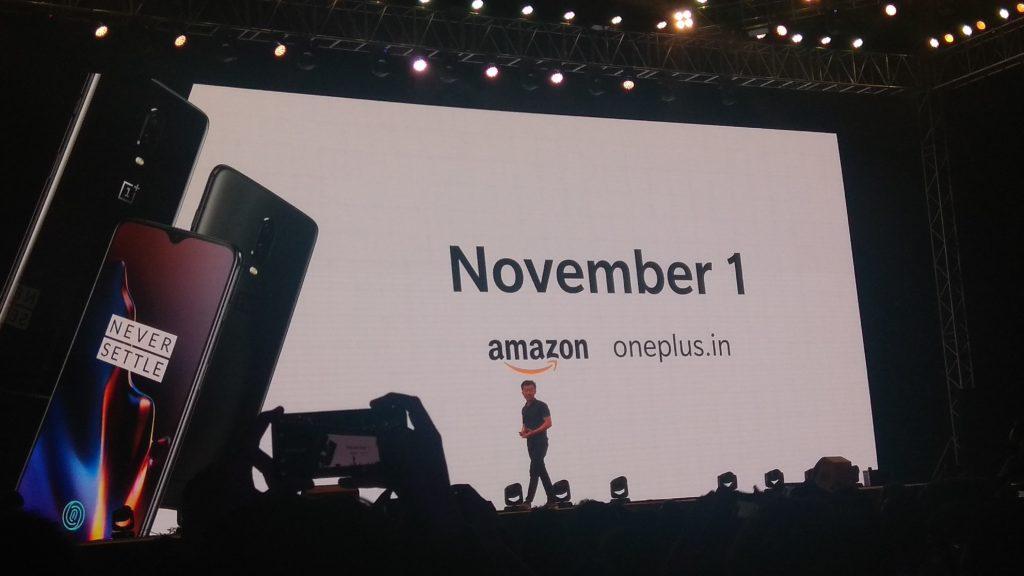 Oneplus 6t Online Sale date